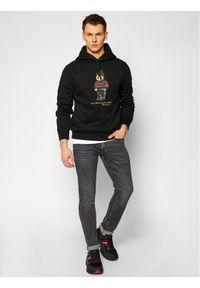 Polo Ralph Lauren Bluza Magic Fleece 71082837400 Czarny Regular Fit. Typ kołnierza: polo. Kolor: czarny