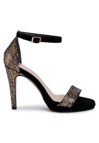 Złote sandały Maccioni wizytowe
