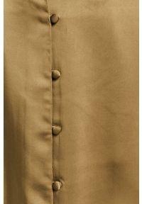 Samsoe & Samsoe - Samsoe Samsoe - Spódnica. Stan: podwyższony. Kolor: zielony. Materiał: tkanina. Wzór: gładki #4