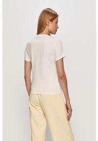 Biała bluzka Champion casualowa, z nadrukiem