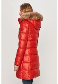 Czerwona kurtka Calvin Klein casualowa, z kapturem, na co dzień #7