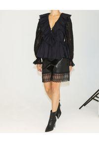 SELF PORTRAIT - Czarna koszula z koronką. Okazja: na co dzień. Kolor: czarny. Materiał: koronka. Długość: długie. Wzór: koronka. Styl: elegancki, casual