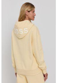 BOSS - Boss - Bluza. Typ kołnierza: kaptur. Kolor: żółty