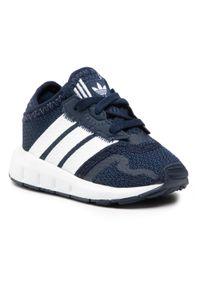 Adidas - Buty adidas - Swift Run X I FY2186 Conavy/Ftwwht/Cblack. Zapięcie: pasek. Kolor: niebieski. Materiał: materiał. Szerokość cholewki: normalna. Wzór: paski. Styl: młodzieżowy