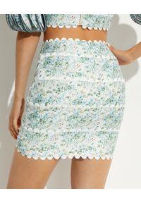 ACLER - Wzorzysta spódnica Dixon. Stan: podwyższony. Kolor: zielony. Materiał: tkanina, wiskoza, len. Wzór: kwiaty