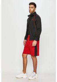 Czerwone szorty Jordan sportowe, z aplikacjami