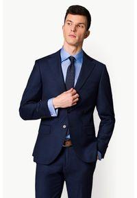 Niebieski garnitur Lancerto z nadrukiem