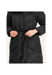 Czarny płaszcz zimowy Marella Sport sportowy