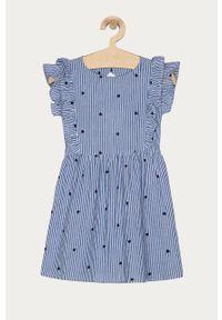 Niebieska sukienka Name it rozkloszowana