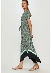 Wielokolorowa sukienka TOMMY HILFIGER z krótkim rękawem, maxi, asymetryczna, na co dzień