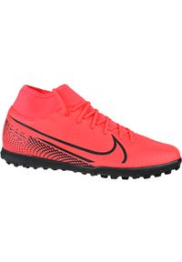 Czerwone turfy Nike w kolorowe wzory, z cholewką