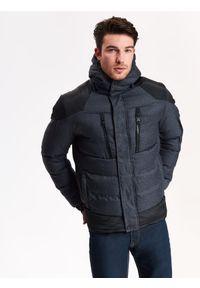 Szara kurtka TOP SECRET z krótkim rękawem, w kolorowe wzory, na jesień