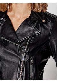 LaMarque Kurtka skórzana Donna 1090 Czarny Regular Fit. Kolor: czarny. Materiał: skóra