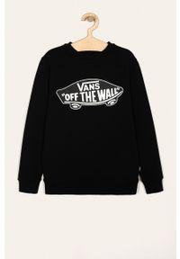 Czarna bluza Vans casualowa, z nadrukiem