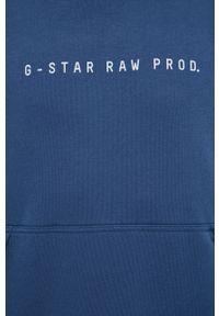 G-Star RAW - G-Star Raw - Bluza. Kolor: niebieski. Materiał: dzianina, materiał. Wzór: gładki #3
