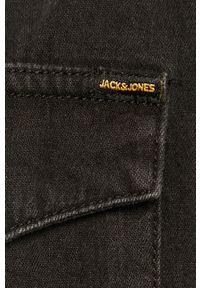 Czarna koszula Jack & Jones z klasycznym kołnierzykiem, krótka
