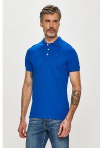 Niebieska koszulka polo Tommy Jeans krótka, polo, na co dzień