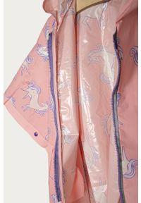 Różowy płaszcz OVS z kapturem