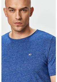 Tommy Jeans - T-shirt. Okazja: na co dzień. Kolor: niebieski. Materiał: bawełna, dzianina. Styl: casual