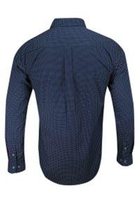 ForMax - Koszula Casualowa, Granatowa w Drobny Wzór Geometryczny, 100% Bawełna, Slim, Długi Rękaw -FORMAX. Okazja: na co dzień. Kolor: niebieski. Materiał: bawełna. Długość rękawa: długi rękaw. Długość: długie. Wzór: geometria. Styl: casual