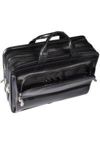 Czarna torba na laptopa MCKLEIN klasyczna, w kolorowe wzory