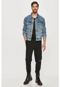 Niebieska kurtka Calvin Klein Jeans bez kaptura, casualowa, na co dzień