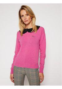 Różowy sweter klasyczny Pinko