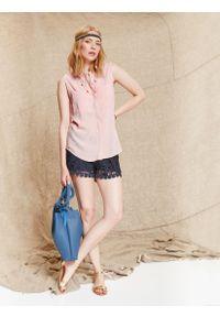 Różowa koszula TOP SECRET na lato, bez rękawów