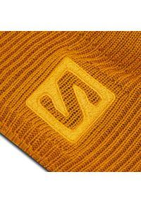 Żółta czapka zimowa salomon