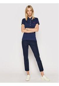 Polo Ralph Lauren Polo Julie 211505654111 Granatowy Slim Fit. Typ kołnierza: polo. Kolor: niebieski