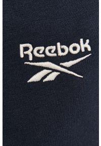 Niebieskie spodnie dresowe Reebok gładkie