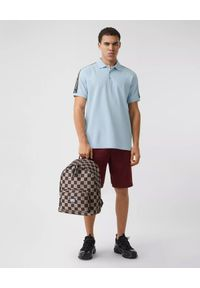 Burberry - BURBERRY - Jasnoniebieska koszulka polo. Okazja: na co dzień. Typ kołnierza: polo. Kolor: niebieski. Materiał: bawełna. Wzór: nadruk. Styl: elegancki, casual