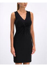 Czarna sukienka koktajlowa DKNY wizytowa
