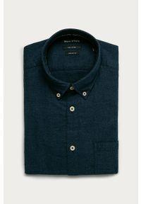 Niebieska koszula Marc O'Polo polo, na co dzień, casualowa, z długim rękawem