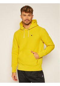 Champion Bluza C Logo 215214 Żółty Custom Fit. Kolor: żółty
