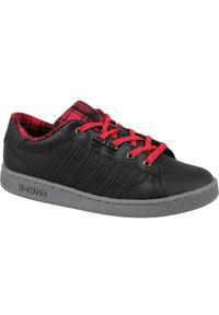 Czarne sneakersy K-Swiss w kolorowe wzory, z cholewką