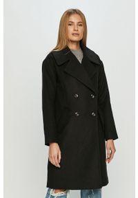 Czarny płaszcz Jacqueline de Yong bez kaptura, klasyczny