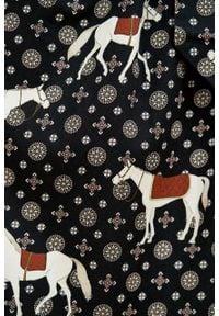 Marie Zélie - Sukienka Leandra Ponnie. Typ kołnierza: kokarda. Materiał: tkanina, bawełna, wiskoza, materiał. Długość rękawa: długi rękaw