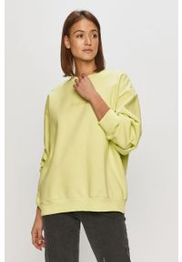 Żółta bluza adidas Originals z długim rękawem, bez kaptura
