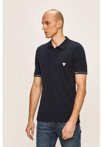 Niebieska koszulka polo Guess Jeans polo, krótka, casualowa
