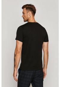 Czarny t-shirt medicine z okrągłym kołnierzem, casualowy, na co dzień