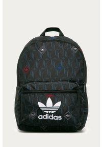 Czarny plecak adidas Originals z nadrukiem