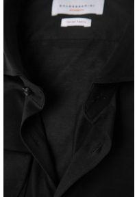 Baldessarini - Koszula. Typ kołnierza: kołnierzyk włoski. Kolor: czarny. Materiał: dzianina. Długość rękawa: długi rękaw. Długość: długie. Wzór: gładki