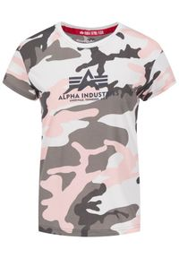 Alpha Industries T-Shirt New Camo Basic 196052 Szary Regular Fit. Kolor: szary