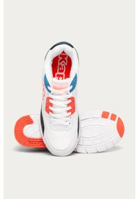 Białe sneakersy Kappa z cholewką, z okrągłym noskiem, na sznurówki