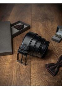 ROVICKY - Pasek męski Rovicky PWN-01-SO 110cm czarny. Kolor: czarny. Materiał: skóra. Styl: klasyczny, elegancki