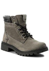 Szare buty trekkingowe Wrangler z cholewką