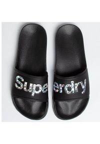 Superdry Klapki Holo Infil Pool Slide WF310006A Czarny. Kolor: czarny #3