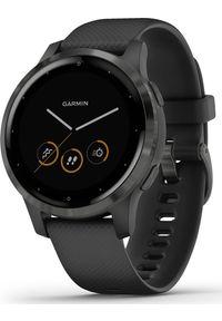 GARMIN - Zegarek sportowy Garmin Vivoactive 4S Czarny (010-02172-12). Kolor: czarny. Styl: sportowy
