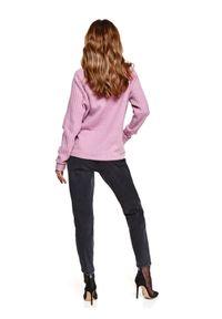 TOP SECRET - Pudełkowy sweter ze wzorem. Kolor: różowy. Materiał: tkanina. Długość: długie. Sezon: wiosna
